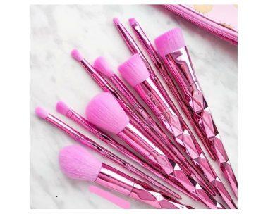 Kit de brochas rosadas