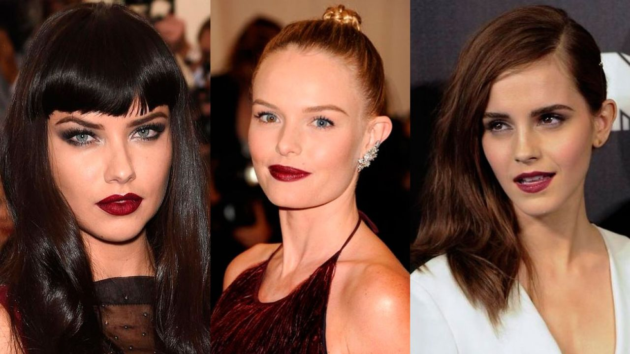 Labios burdeos maquillaje 2020