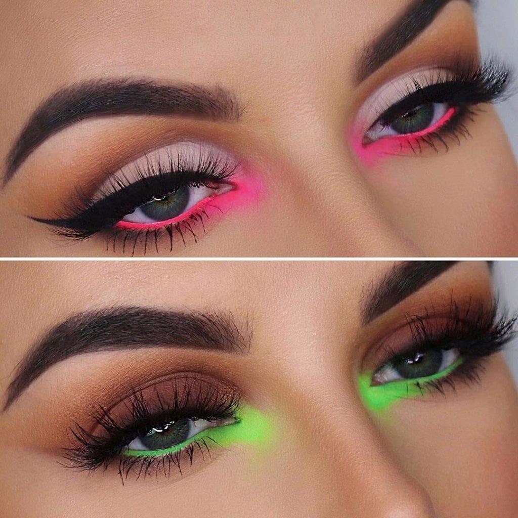 Delineado con nenón, tendencias de maquillaje2021