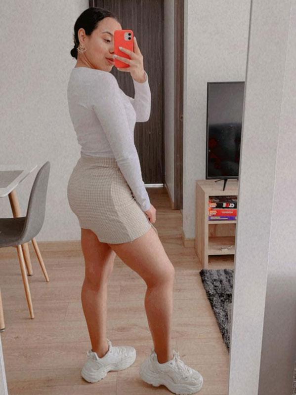 Falda short estampada