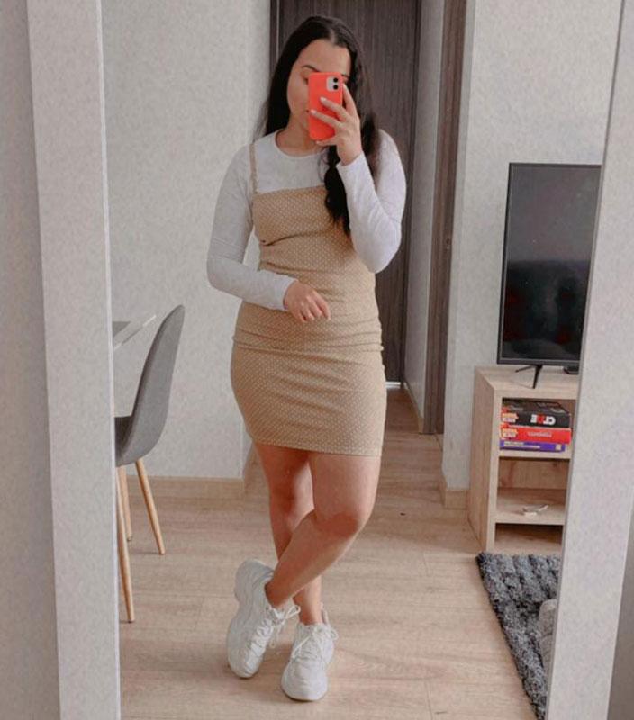 Vestido ajustado tira sencilla